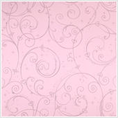 Perfect Princess Pink Glitter Scroll Walpaper