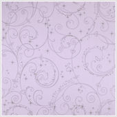 Perfect Princess Purple Glitter Scroll Wallpaper