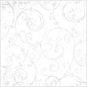 Perfect Princess White Glitter Scroll Wallpaper