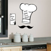 Chef Hat Dry Erase Giant Wall Decal SALE