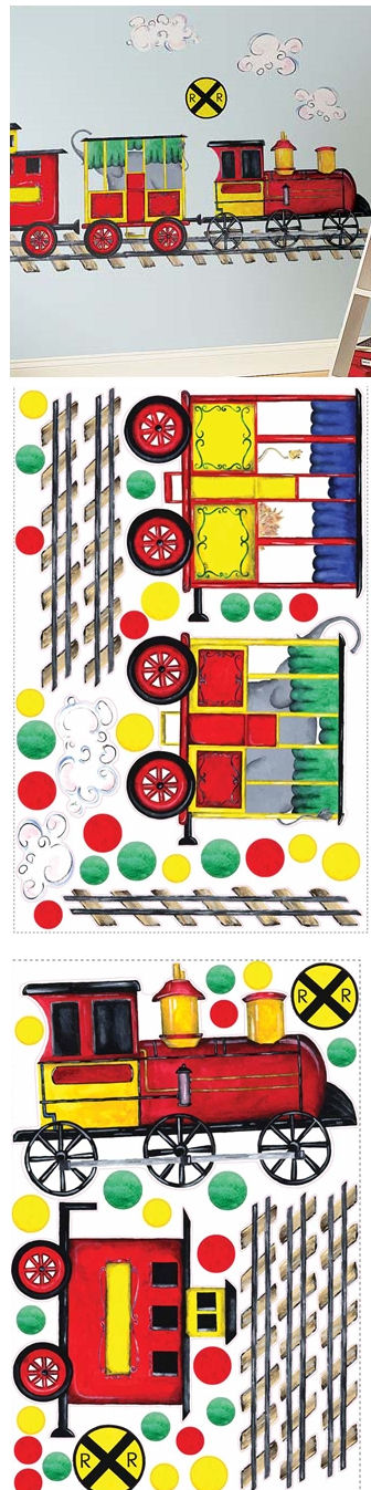 All Aboard Mega Pack Peel and Stick Stickers - Wall Sticker Outlet