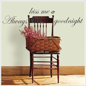 Always Kiss Me Goodnight Peel and Stick Phrase