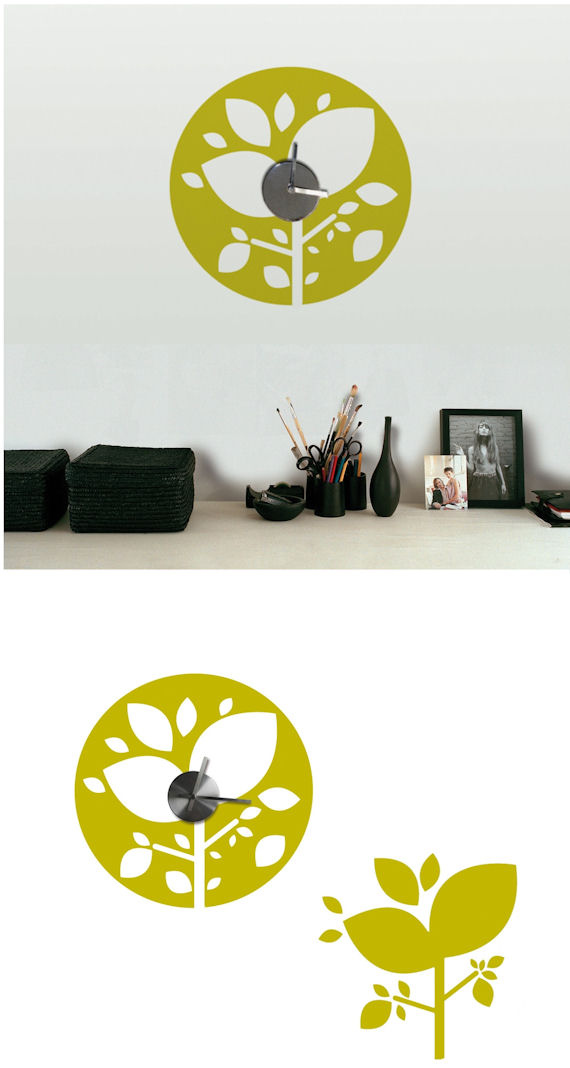 Amazon Forest Clock and Wall Decals - Wall Sticker Outlet