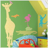 Animal Silhouettes Color Wall Decals