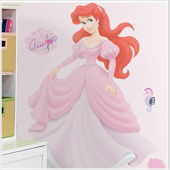 Disney Princess Ariel Jeweled Giant Wall Sticker