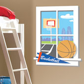 Backyard Basketball Window Wall Sticker SALE