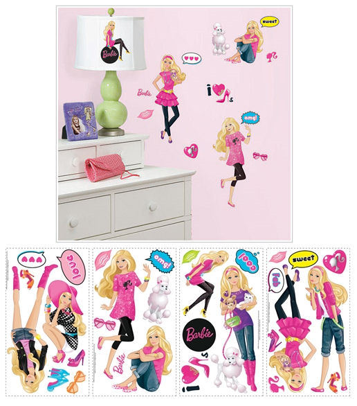 barbie wall stickers pics photos details about barbie 36 giant wall stickers