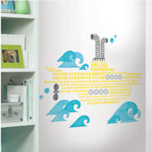Beatles Yellow Submarine Lyrics Giant Decal SALE