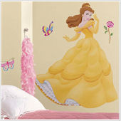 Disney Princess Belle Jeweled Giant Wall Sticker