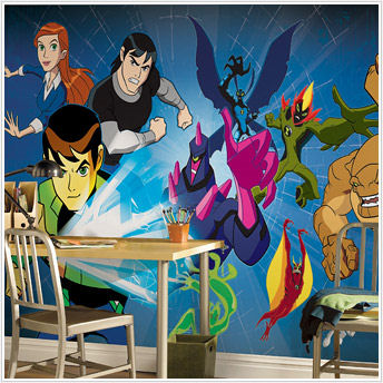 Ben 10 Giant XL Wall Mural - 9 x 15 feet - Kids Wall Decor Store