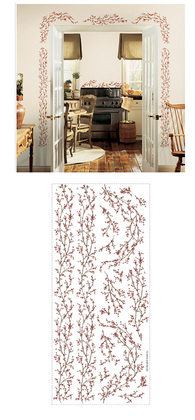 Berry Vine Giant Wall Sticker - Wall Sticker Outlet