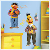 Sesame Street Bert And Ernie Giant Wall Stickers