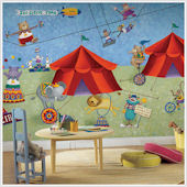 Big Top Circus XL Prepasted  Wall Mural