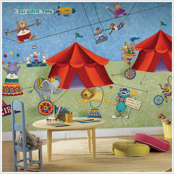 Big Top Circus XL Prepasted  Wall Mural - Kids Wall Decor Store