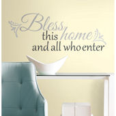 Bless This Home Peel and Stick Wall Quote Decal