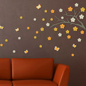 Blossom Branch Foam Wall Stickers
