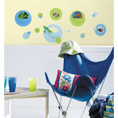 Blue and Green Wall Pockets Wall Stickers SALE