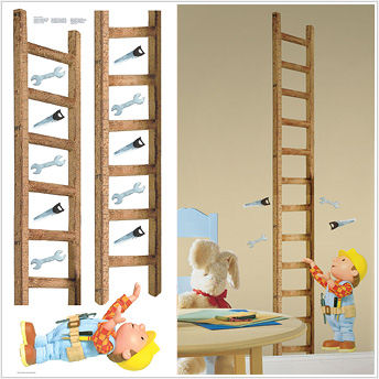 Bob The Builder Growth Chart SALE   Wall Sticker Outlet