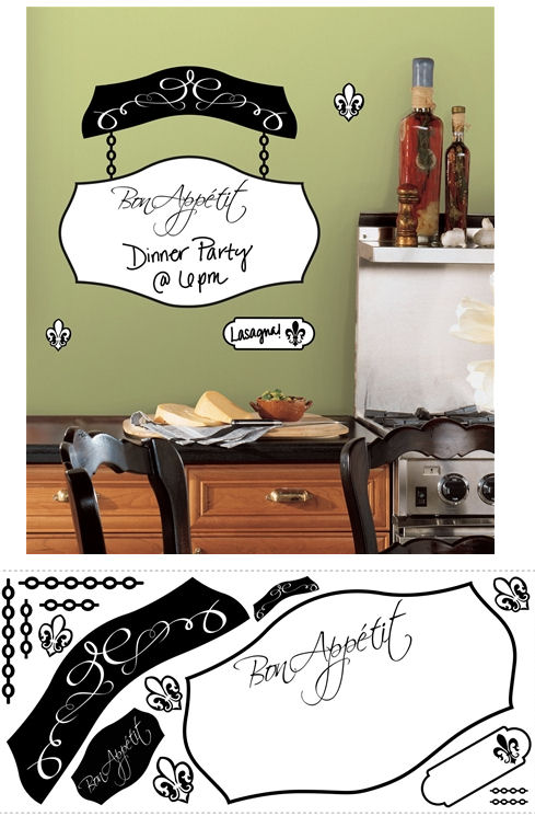 Bon Appetit Dry Erase Giant Wall Decal SALE  - Wall Sticker Outlet