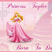 Disney Princess Born to Dance Custom Wall Decal