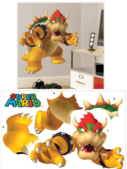 Super Mario Brothers Bowser Giant Wall Sticker - Wall Sticker Outlet