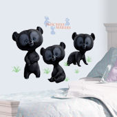 Disney Brave Three Brother Bears Giant Wall Decal