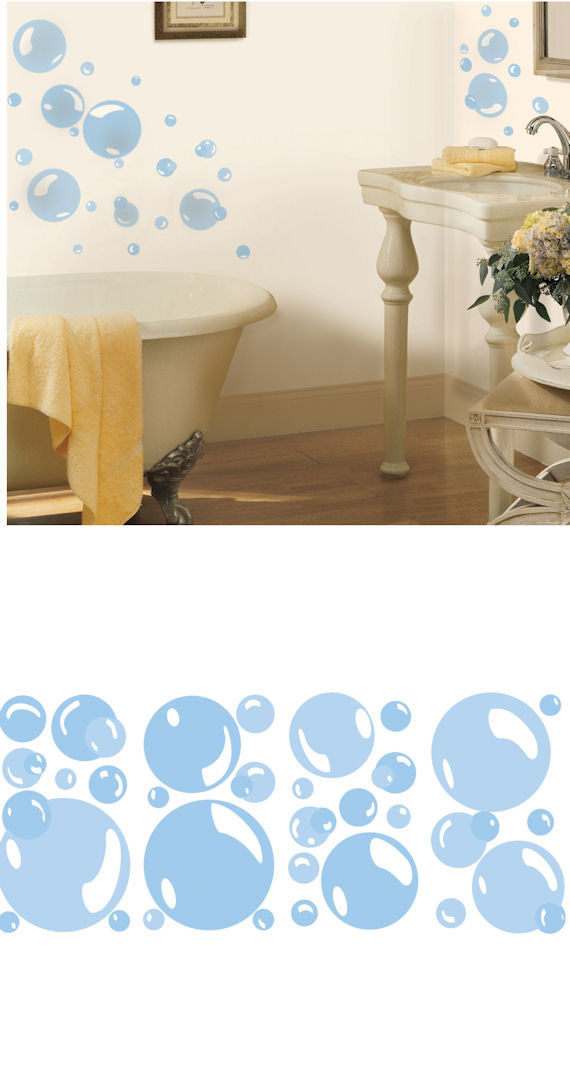 Bubbles Peel and Stick Wall Decal - Wall Sticker Outlet