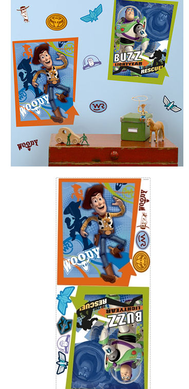 Buzz and Woody Giant Wall Poster Stickers SALE - Wall Sticker Outlet