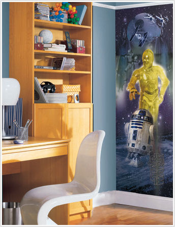 Star Wars C-3PO & R2-D2 Wall Panel - Kids Wall Decor Store