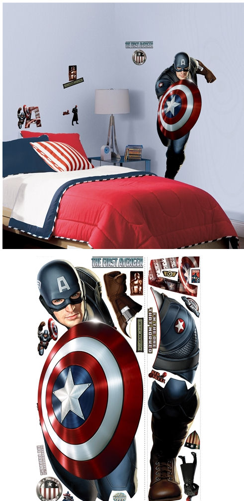 Captain America The First Avenger Giant Wall Decal - Wall Sticker Outlet