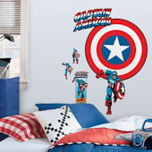 Captain America Vintage Shield Giant Wall Decal