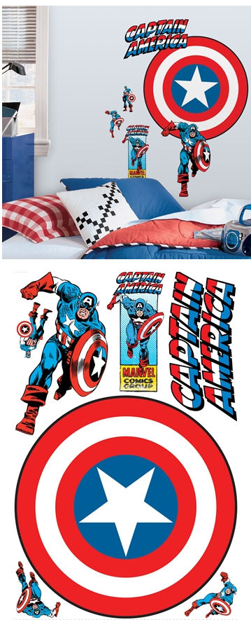 Captain America Vintage Shield Giant Wall Decal - Wall Sticker Outlet