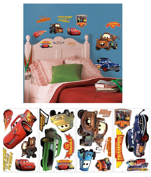 Disney Cars Piston Cup Champions Wall Stickers - Kids Wall Decor Store