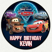 Cars Happy Birthday Custom Wall Decal