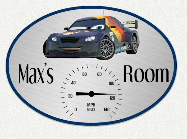 Disney Cars Speedometer Custom Wall Decal