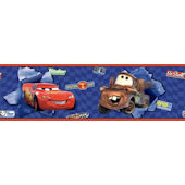Disney Cars McQueen and Mater Blue WallBorder
