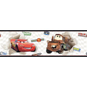 Disney Cars McQueen Mater White Wall Border