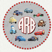 Cars Monogram Custom Wall Decal