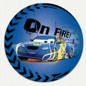 Disney Cars On Fire Custom Wall Decal