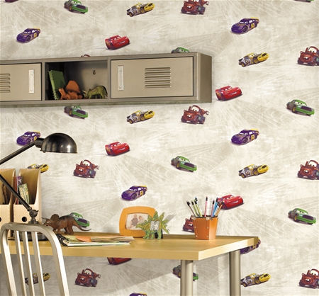 disney cars wallpaper. Disney Cars Cream Racing Wall