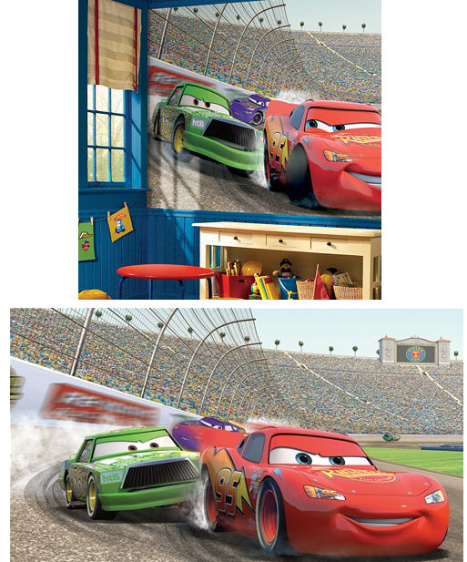 Disney cars giant xl wall mural 6 x 10 feet kids wall for Disney cars large wall mural