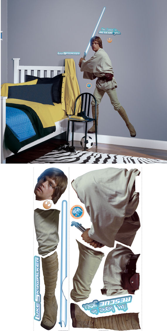 Star Wars Luke Skywalker Giant Wall Sticker - Wall Sticker Outlet