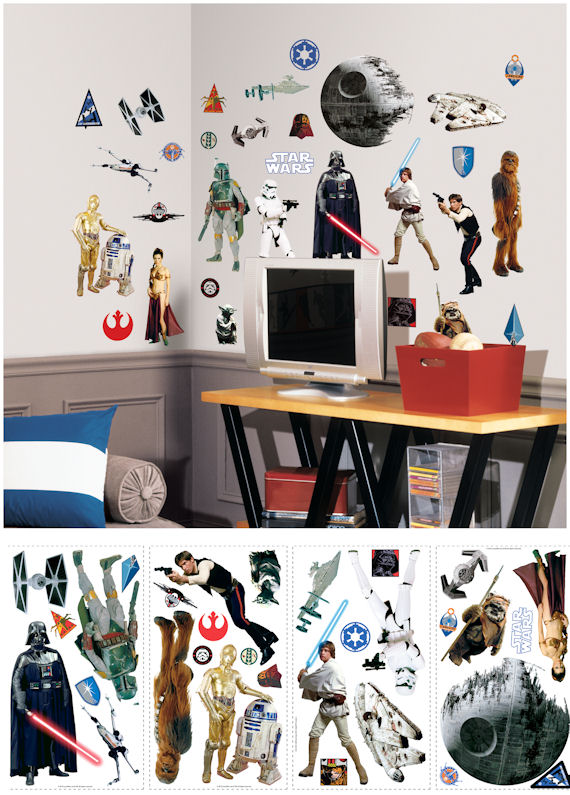 Star Wars Classic Wall Decals - Kids Wall Decor Store