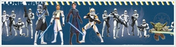 Star Wars The Clone Wars Wall Border - Wall Sticker Outlet