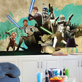 Star Wars Clone Wars XL 6 x 10 Chair Rail Mural