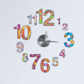 Colorful Clock and Wall Decals