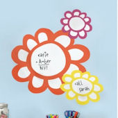 Colourful Flowers Dry Erase Wall Decals