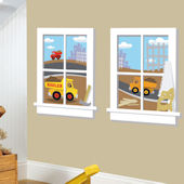 Construction Junction Window Wall Sticker