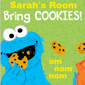 Sesame Street Cookie Monster Custom Wall Decal