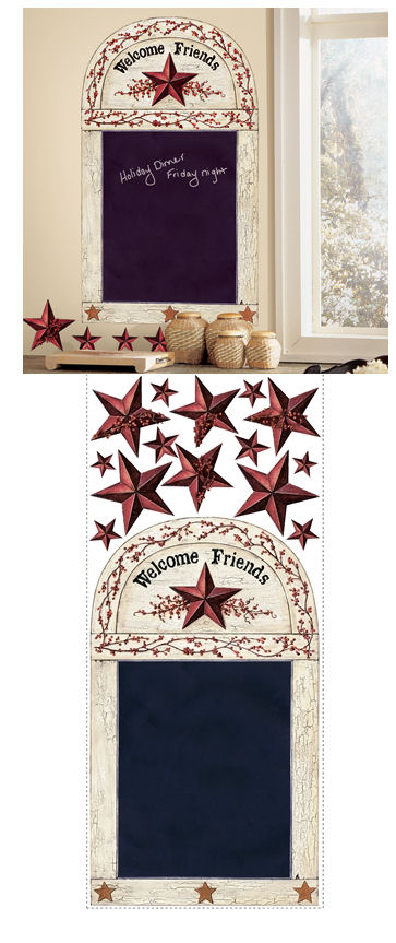 Country Chalkboard Giant Wall Sticker - Wall Sticker Outlet